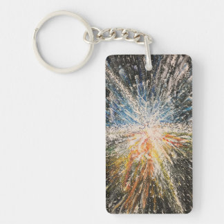 Bright Black Star Keychain