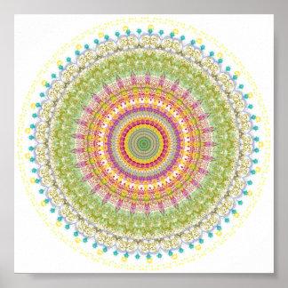 Bright Blessings Mandala Poster