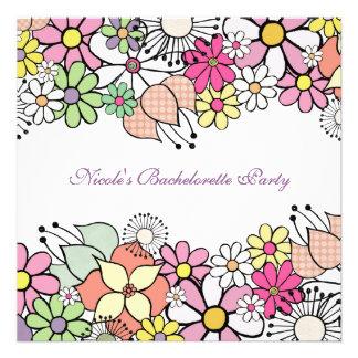 Bright Blossoms Bachelorette Party Invitation