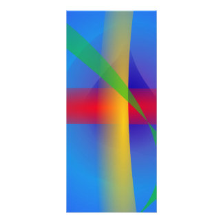 Bright Blue Abstract Art Rack Card