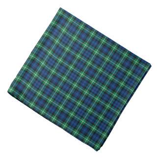 Bright Blue and Green Clan Lamont Tartan Bandana