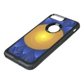 Bright Blue and Orange Water Lily Fractal Lotus OtterBox Commuter iPhone 8 Plus/7 Plus Case