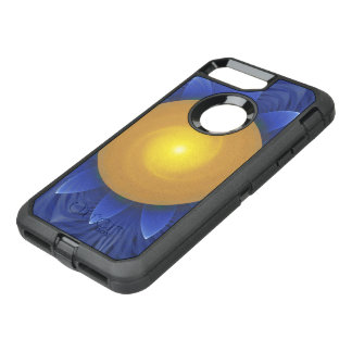 Bright Blue and Orange Water Lily Fractal Lotus OtterBox Defender iPhone 8 Plus/7 Plus Case