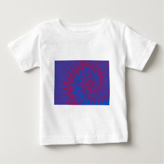 Bright Blue and Red Spiral Tie Dye Baby T-Shirt