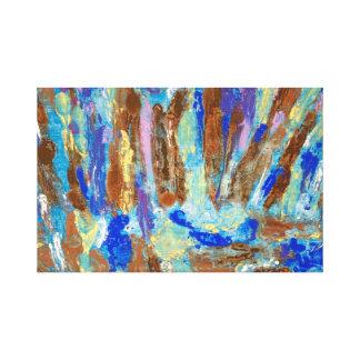 Bright Blue Beck Canvas Print