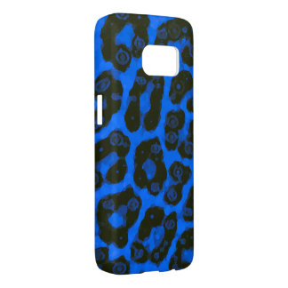 Bright Blue Black Painted Cheetah