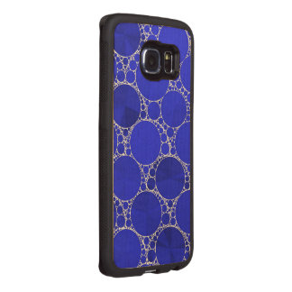 Bright Blue Bling Wood Phone Case