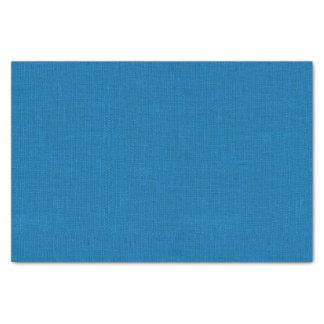Bright Blue Burlap Texture Tissue Paper
