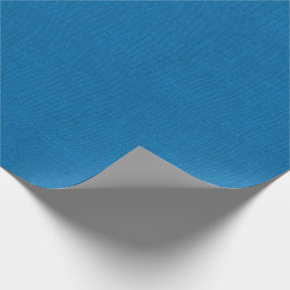 Bright Blue Burlap Texture Wrapping Paper
