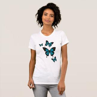 Bright blue Butterflies,  Swallow tail Butterfly T-Shirt