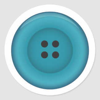 Bright Blue Button Sticker seal