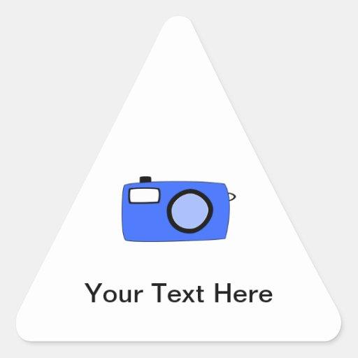 Bright Blue Camera. On White. Sticker