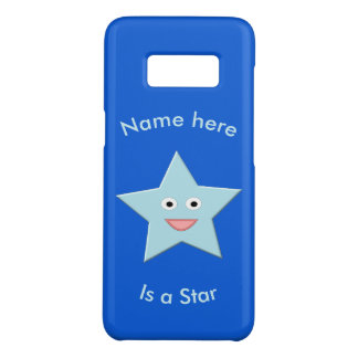 Bright Blue Celebration Star Custom Samsung Case