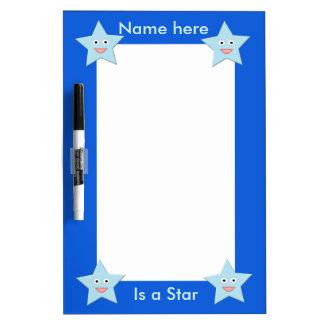 Bright Blue Celebration Star Memo Board