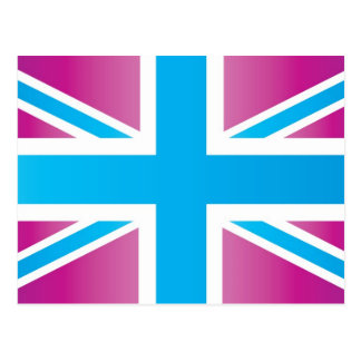 Bright Blue Classic Union Jack British(UK) Flag Post Cards
