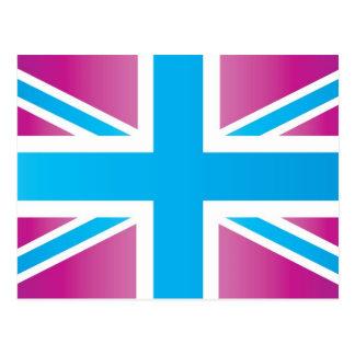 Bright Blue Classic Union Jack British(UK) Flag Postcard