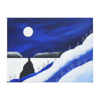 Bright Blue Desert Southwest Wood Canvas Print