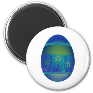 Bright Blue Egg 6 Cm Round Magnet