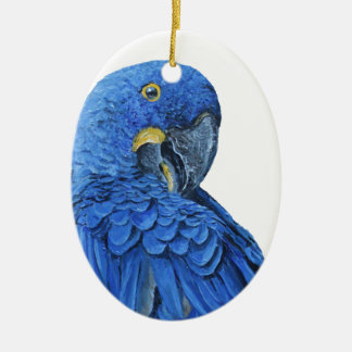 Bright blue Hyacinth Macaw Ceramic Ornament