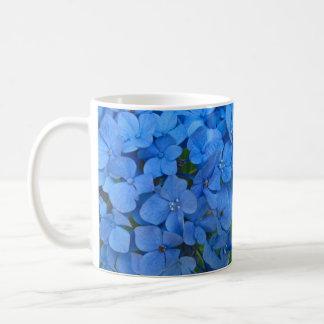 Bright Blue Hydrangea Coffee Mugs