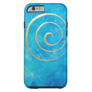 Bright Blue Infinity Golden Spiral Philip Bowman Tough iPhone 6 Case