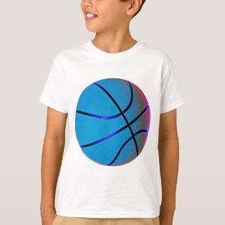 Bright Blue Large Basketball T-Shirt