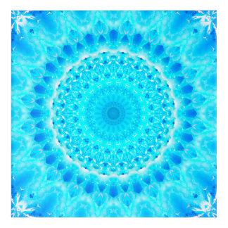 Bright Blue Mandala Acrylic Wall Art