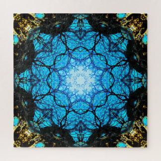 Bright Blue Mandala Jigsaw Puzzle