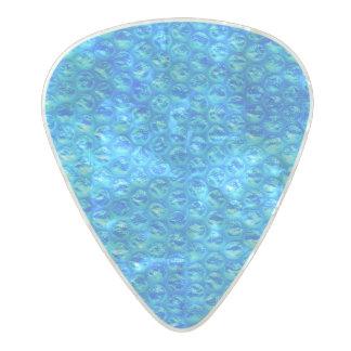 Bright Blue Mermaid Soda Pop Bubble Wrap Pearl Celluloid Guitar Pick