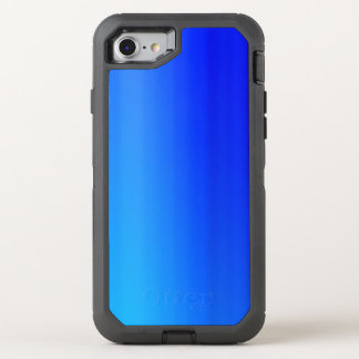 Bright Blue Ombre Watercolor Paint OtterBox Defender iPhone 8/7 Case