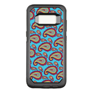 Bright Blue Orange Paisley Pattern OtterBox Commuter Samsung Galaxy S8 Case