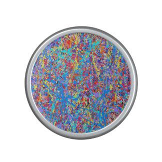 Bright Blue Paint Splatter Abstract Speaker
