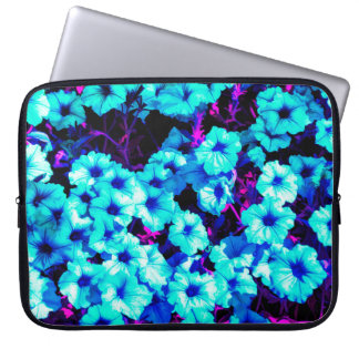 Bright Blue Petunias Laptop Sleeve