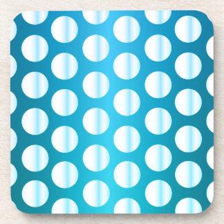 Bright Blue Polka Dot Coaster