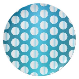 Bright Blue Polka Dot Plates