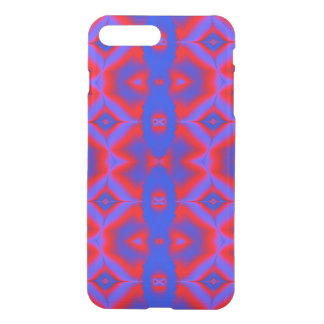 Bright Blue Red abstract design iPhone 7 Plus Case