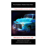 Bright Blue Restored Vintage Auto Photo Business Cards
