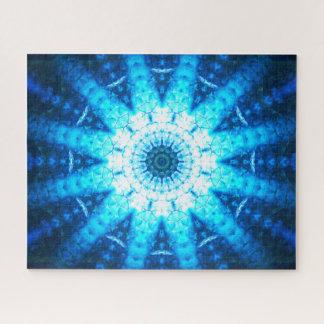 Bright Blue Scales | Mandala Art Jigsaw Puzzle