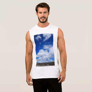 BRIGHT BLUE SKY WITH WHITE CLOUDS SHIRT