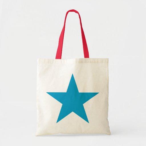 Bright Blue Star Bags