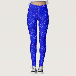 Bright Blue Star Leggings