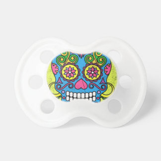 Bright Blue Sugar Skull Day of the Dead! Baby Pacifier