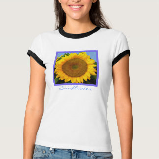 Bright Blue Sunflower T-Shirt