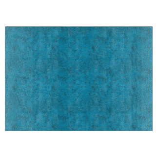 Bright Blue Texture MED Glass Cutting Board