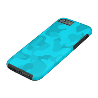 Bright Blue Tough Camoflauge iPhone 6 Case