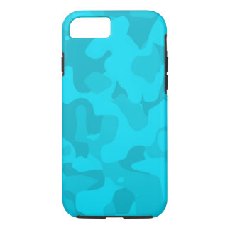 Bright Blue Tough Camoflauge iPhone 7 Case