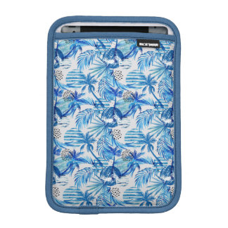 Bright Blue Tropical Watercolor Pattern iPad Mini Sleeve