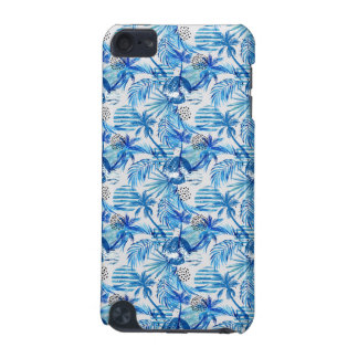 Bright Blue Tropical Watercolor Pattern iPod Touch 5G Case