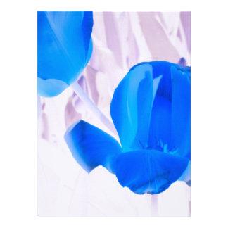 Bright Blue Tulips Custom Invitation