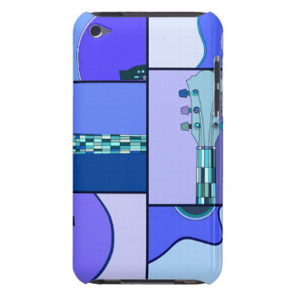 Bright Blues Pop Art Guitar iPod Touch Case